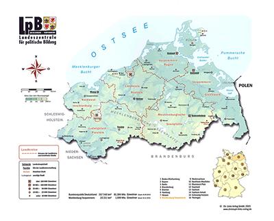 Rahmenpuzzle Landkarte Von Mecklenburg Vorpommern Publikation